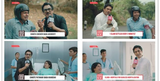 HDFC ERGO Health Unveils its TVC Campaign ''Bad News - Good News'' with Nawazuddin Siddiqui