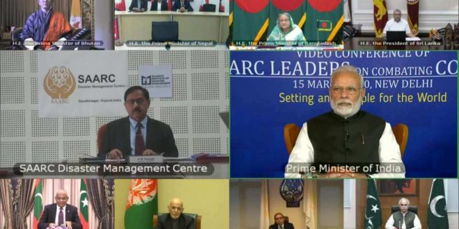 PM Modi interacts with SAARC leaders to combat COVID-19 in the region and proposes set up of COVID-19 Emergency Fund for SAARC countries