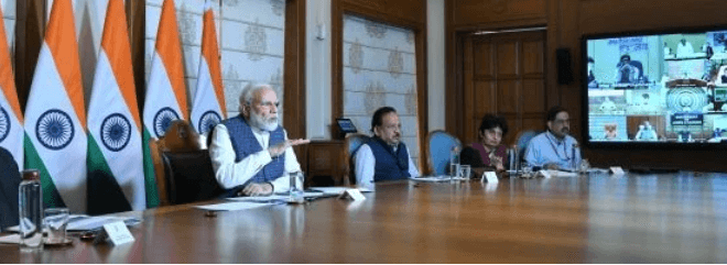 PM Narendra Modi interacts with all CMs to combat COVID-19