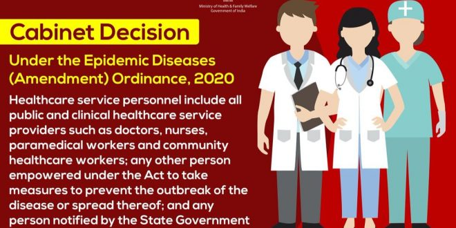 Promulgation of an Ordinance to amend the Epidemic Diseases Act, 1897 in the light of the pandemic situation of COVID-19