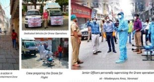 Varanasi Smart City uses Drones to sanitize sensitive areas for controlling spread of COVID-19
