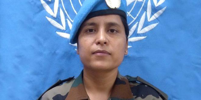 United Nations Award to Indian Army Officer Major Suman Gawani