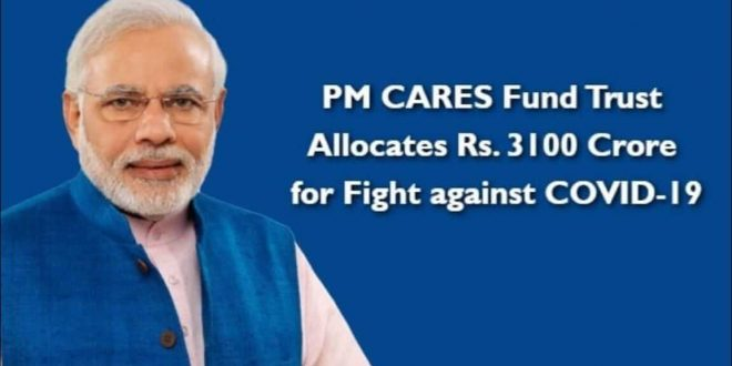 PM CARES Fund Trust Allocates Rs. 3100 Crore for Fight against COVID-19