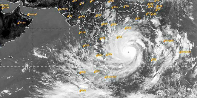 Super Cyclonic Storm 'AMPHAN' (updated at 2200 Hrs. IST)lay over West Bengal close to Kolkata as a Very Severe Cyclonic Storm: Cyclone warning for West Bengal coast: Red Message