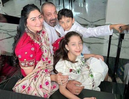 Superstar Sanjay Dutt shares a heart-warming photo of a moment with his family before the lockdown
