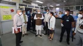 Union Home Minister Amit Shah pays surprise visit to Lok Nayak Jay Prakash Narayan (LNJP) Hospital to review arrangements related to COVID-19