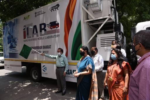 Dr Harsh Vardhan Launches DBT – AMTZ Mobile Diagnostic Unit for Covid Testing- I-Lab