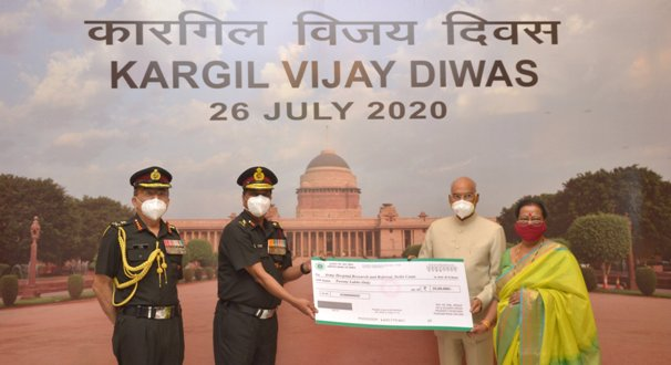 President of India Ram Nath Kovind donates to Army Hospital on Vijay Diwas