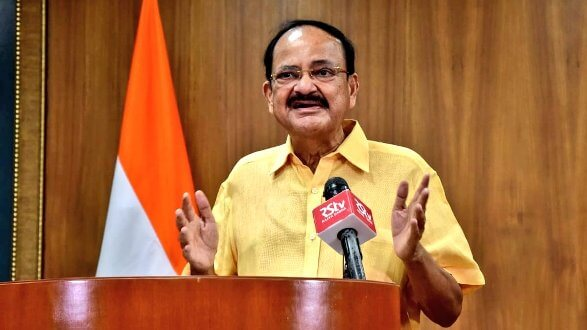 Vice President Venkaiah Naidu expresses concern over growing pendency of cases at all levels of judiciary
