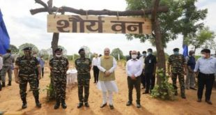 Union Home Minister,  Amit Shah participates in the nationwide tree plantation drive of the CAPFs at CRPF Camp, Gurugram