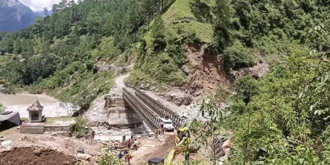 BRO constructs 180-feet bailey bridge under three weeks providing connectivity to 20 villages in Uttarakhand