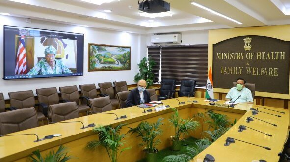 Dr Harsh Vardhan interacts with WHO Regional Director and Health Ministers of South East Asia Region