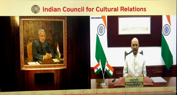 President of India virtually unveils a portrait of Shri Atal Bihari Vajpayee at ICCR Headquarters