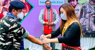 Sisters from Northeast tying Rakhi on Jawans deployed in Jammu & Kashmir and Ladakh