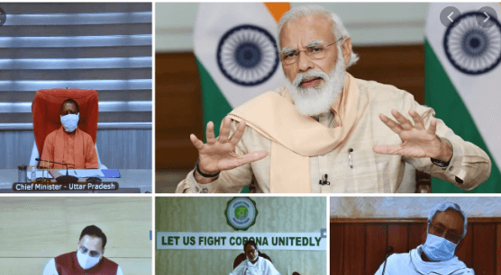 PM Narendra Modi interacts with CMs to discuss the current situation and plan ahead for tackling the pandemic