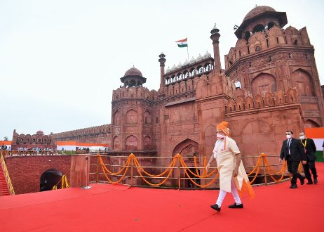 Prime Minister Narendra Modi addressed the Nation from the ramparts of the Red Fort on the 74th Independence Day