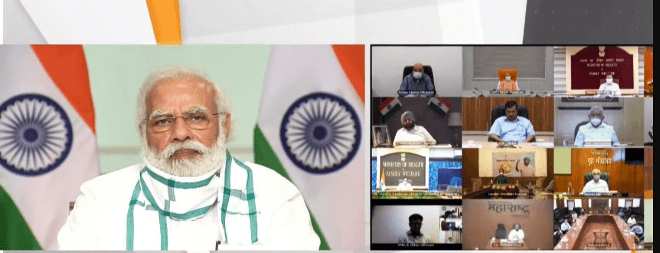 PM Narendra Modi interacts with CMs of seven states to review status and response to COVID-19