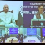 President of India Ram Nath Kovind virtually conferred the National Service Scheme (NSS) Awards for the year 2018-19 today