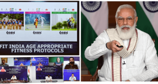 Prime Minister Narendra Modi launches the Age Appropriate Fitness Protocols