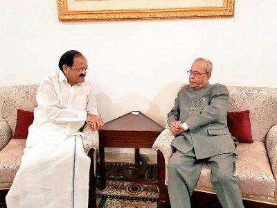 Vice President Venkaiah Naidu expresses profound grief on the passing away of Pranab Mukherjee