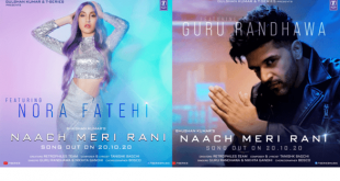 Naach Meri Rani's Poster shows Guru Randhawa and Nora Fatehi in a unique avatar.