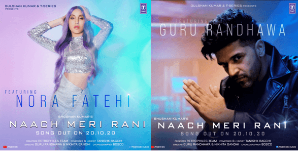Naach Meri Rani's Poster shows Guru Randhawa and Nora Fatehi in a unique avatar