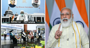 PM Narendra Modi addresses the Centenary Convocation of the University of Mysore