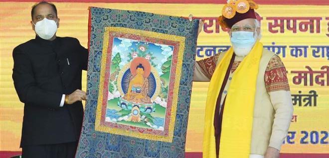 PM Narendra Modi participates in 'Abhar Samaroh' at Sissu in Himachal Pradesh
