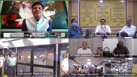 Piyush Goyal, Hon'ble Union Minister of Railways and Commerce & Industry Inaugurates Phoolbagan Metro Station