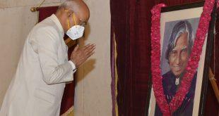 President of India Ram Nath Kovind pays homage to Dr APJ Abdul Kalam on his birth anniversary