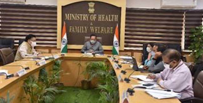 Dr. Harsh Vardhan reviews COVID and public health measures with Health Ministers and senior State officials of 9 States