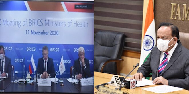Dr. Harsh Vardhan showcases India's fight against COVID to his BRICS Counterparts