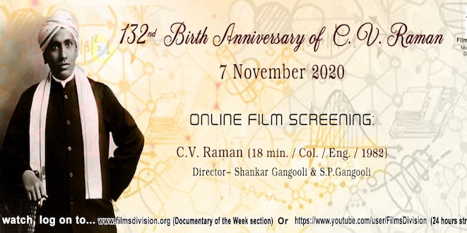 Films Division Biopic to be streamed as tribute to C.V. Raman