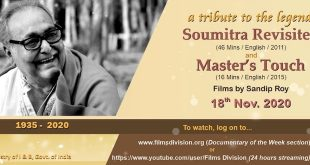 Films Division to screen 'Soumitra Revisited' as homage to the legendary artist