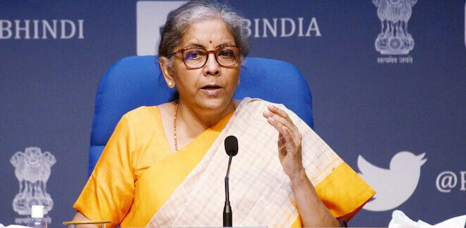 Finance Minister Nirmala Sitharaman attends the G20 Finance Ministers virtual meeting