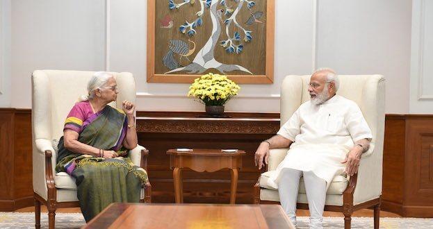 PM Narendra Modi condoles the passing away of former Governor of Goa Mridula Sinha