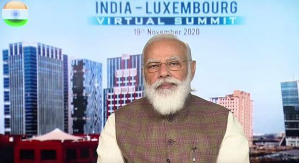 PM Narendra Modi holds India – Luxembourg Virtual Summit with H.E. Xavier Bettel, Prime Minister of Grand Duchy of Luxembourg