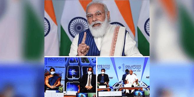 PM Narendra Modi inaugurates Bengaluru Tech Summit