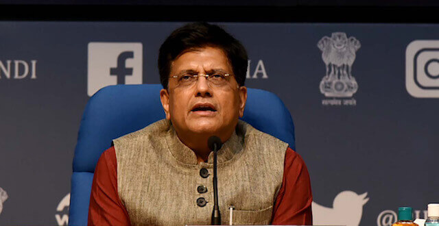 Piyush Goyal invites the global investors to invest in India