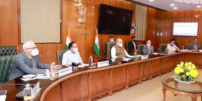 Union Home Minister Amit Shah directs slew of measures for controlling the spread of Covid-19 in Delhi at a review meeting