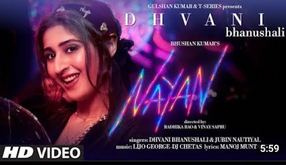 Bhushan Kumar's next Dhvani Bhanushali's music video NAYAN will be this year's cutest college romance story