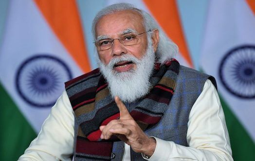 PM Narendra Modi addresses Kisan Sammelan held in Madhya Pradesh