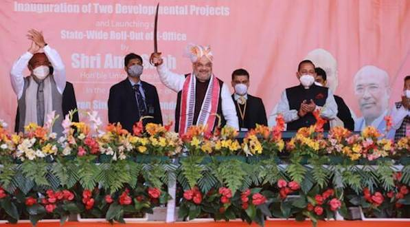 Union Home Minister Amit Shah launched several development projects in Manipur