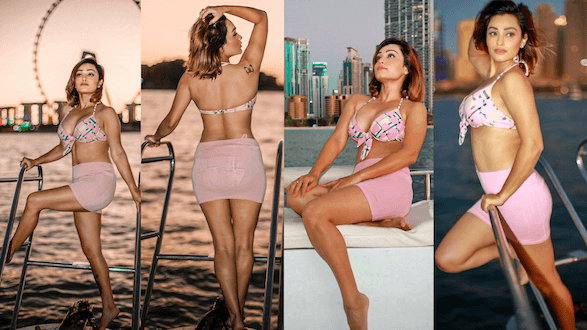 Actress Arya Vora Explores Dubai, travels by a private plane and a luxurious Yacht, Watch the video !