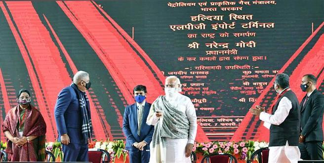 PM Narendra Modi dedicates to the Nation and lays the Foundation Stone of key infrastructure projects in West Bengal