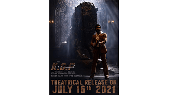 The Big News is OUT! KGF Chapter 2 to release in Theatres on July 16,2021!