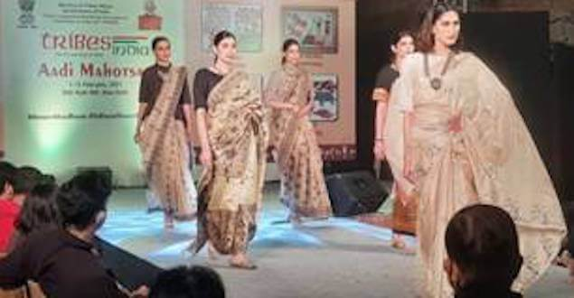 Tribal fashion curated by Rina Dhaka and Ruma Devi highlighted at the Tribes India Aadi Mahotsav