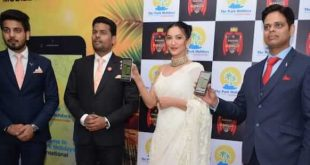 Gauhar Khan launches The Park Holidays International's Mobile App In New Delhi