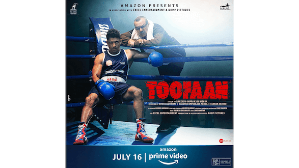 Check it out! Farhan Akhtar and Paresh Rawal staring right at you in this new poster of Amazon Prime Video's upcoming Toofaan