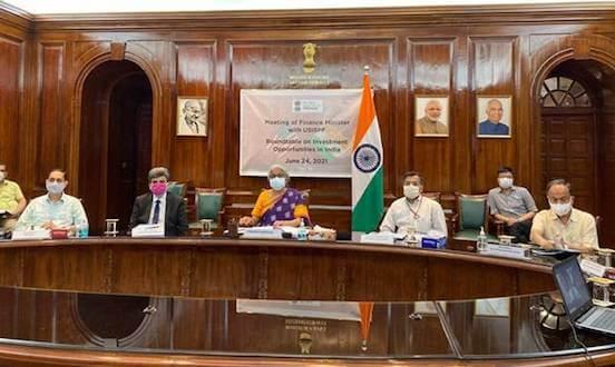 Finance Minister Nirmala Sitharaman addresses US-India Strategic Partnership Forum (USISPF) Board of Directors Investment Roundtable